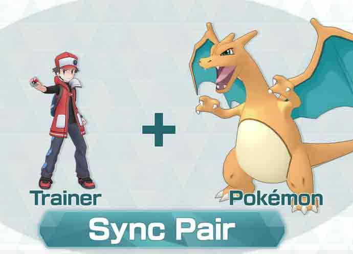 Red and Charizard in Pokémon Masters
