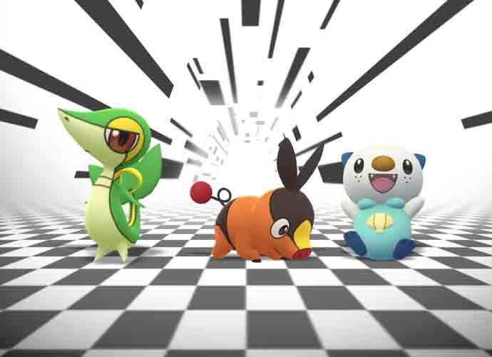 Snivy, Tepig and Oshawott in Pokémon GO