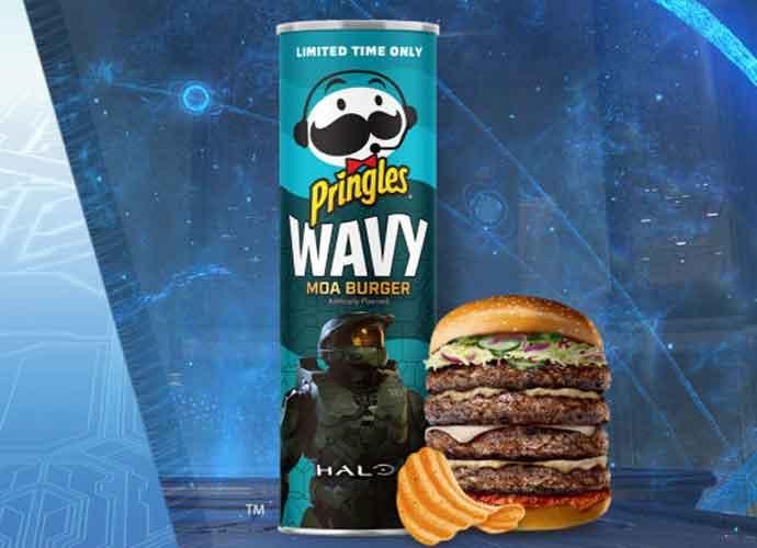 Pringle's Halo-inspired 'Moa Burger' chips (Image: Pringles)