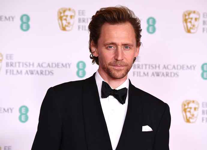 LONDON, ENGLAND - APRIL 11: Awards Presenter Tom Hiddleston attends the EE British Academy Film Awards 2021 at the Royal Albert Hall on April 11, 2021 in London, England. (Photo by Jeff Spicer/Getty Images)