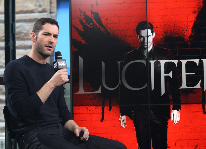 """NEW YORK, NY - MAY 12: Tom Ellis appears to promote """"Lucifer"""" during the BUILD Series at Build Studio on May 12, 2017 in New York City. (Photo by Donna Ward/Getty Images)"""